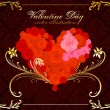 Royalty-Free Stock Vector Image: Valentine day vector rose heart