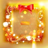 Marco de navidad con oropel — Vector de stock