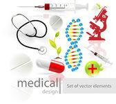 Medizinische symbole festgelegt. — Stockvektor