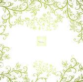 Elegance vintage floral card — Stock Vector