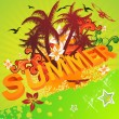 Summer illustration — Stock Vector