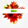 Royalty-Free Stock Vector Image: Autumn yellow banner