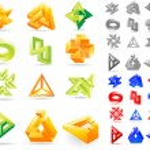 Abstract symbols. Vector illustration. — Stock Vector