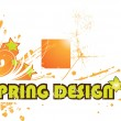 Stock Vector: Abstract spring background for design.