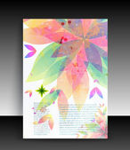 Flyer or cover design. Folder design content background. editable vector illustration — Stock Vector