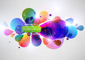 Vector illustration of soft colored abstract background — Stock Vector