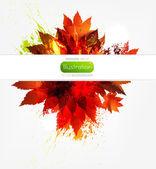 Autumn yellow banner — Stock Vector