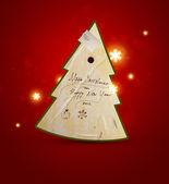Christmas tree applique vector background — Stock Vector