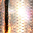 Royalty-Free Stock Photo: Metal banner background fired