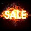 Fire Sale for hot flame design — Stock Photo #18075465