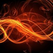 Fire flame banner — Stock Photo
