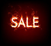 Fire Sale for hot flame design — Stock Photo