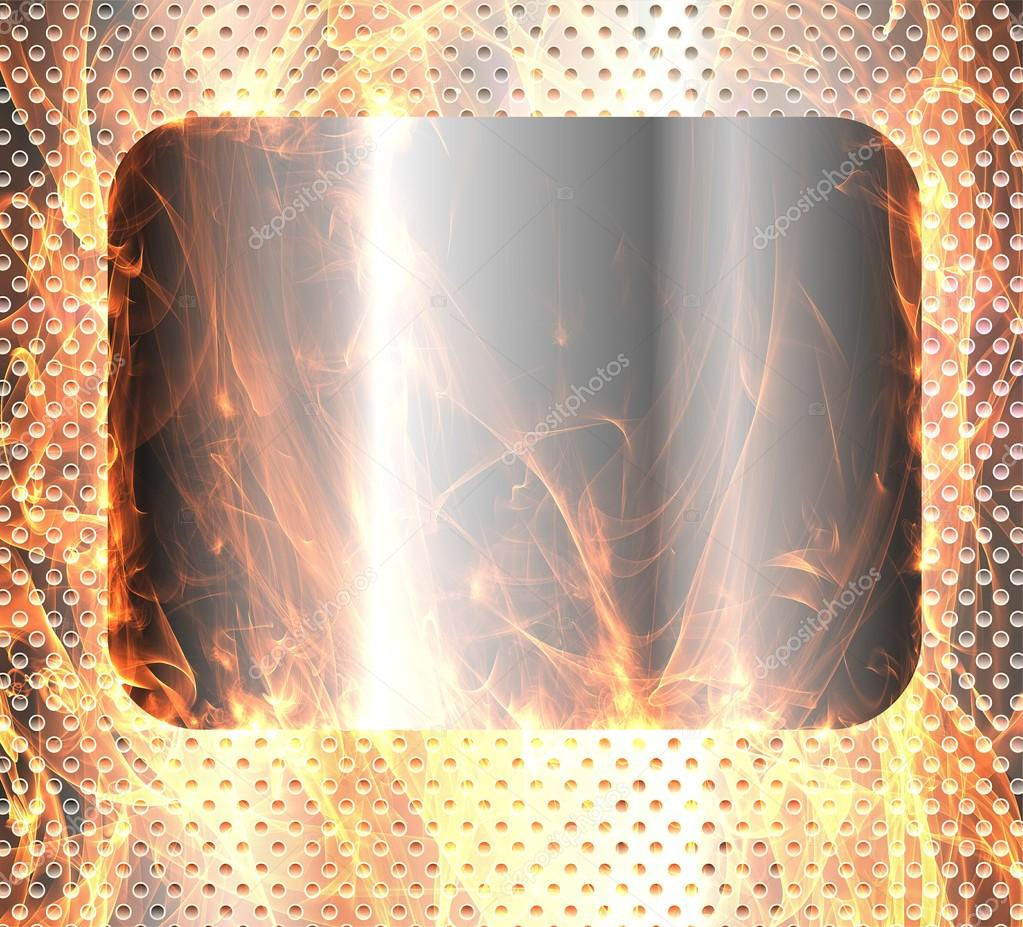 Metal banner background fired — Stock Photo #18074797