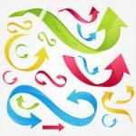 Colorful 3d vector arrows set — Stock Vector
