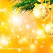 Royalty-Free Stock Immagine Vettoriale: Christmas background with baubles and christmas tree