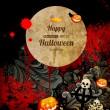 composición de halloween espeluznante — Vector de stock
