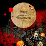 Spooky halloween kompozisyon — Stok Vektör
