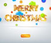 Рождественский плакат — Cтоковый вектор