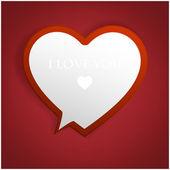 Bublinu. srdce z papíru valentýna karty vektorové pozadí — Stock vektor