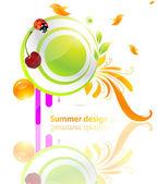 Vector summer illustration for fresh design. — Stock Vector