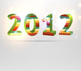 Happy new year 2012 3d message vector background. — Stock Vector
