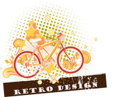 Vintage bike illustration — Stock Vector