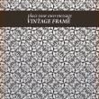 Vintage design template with seamless ornament - Stock Vector