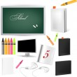 Education icon set — Stock Vector