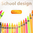 Pencil vector illustration set. — Stockvectorbeeld