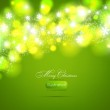 Christmas green background light and snowflakes vector background for Xmas winter design. — Stock Vector #18105525