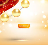 Noel poster — Stok Vektör