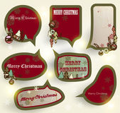 Christmas speech bubbles set — Vettoriale Stock