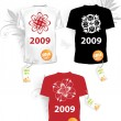 Set of christmas t-shirts - Stockvektor