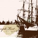 Ship silhouette — Stock Vector