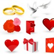 Wedding vector elements for design. — Stock Vector