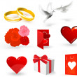 Wedding vector elements for design. — Imagens vectoriais em stock