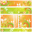 Abstract vector flower element for design. - Stock Vector
