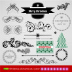クリスマスの飾りのセット — ストックベクタ