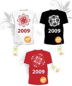 Set of christmas t-shirts — Vector de stock