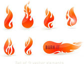 Fire Icons set — Stock Vector