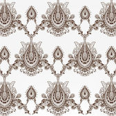 Seamless damask wallpaper — Stok Vektör