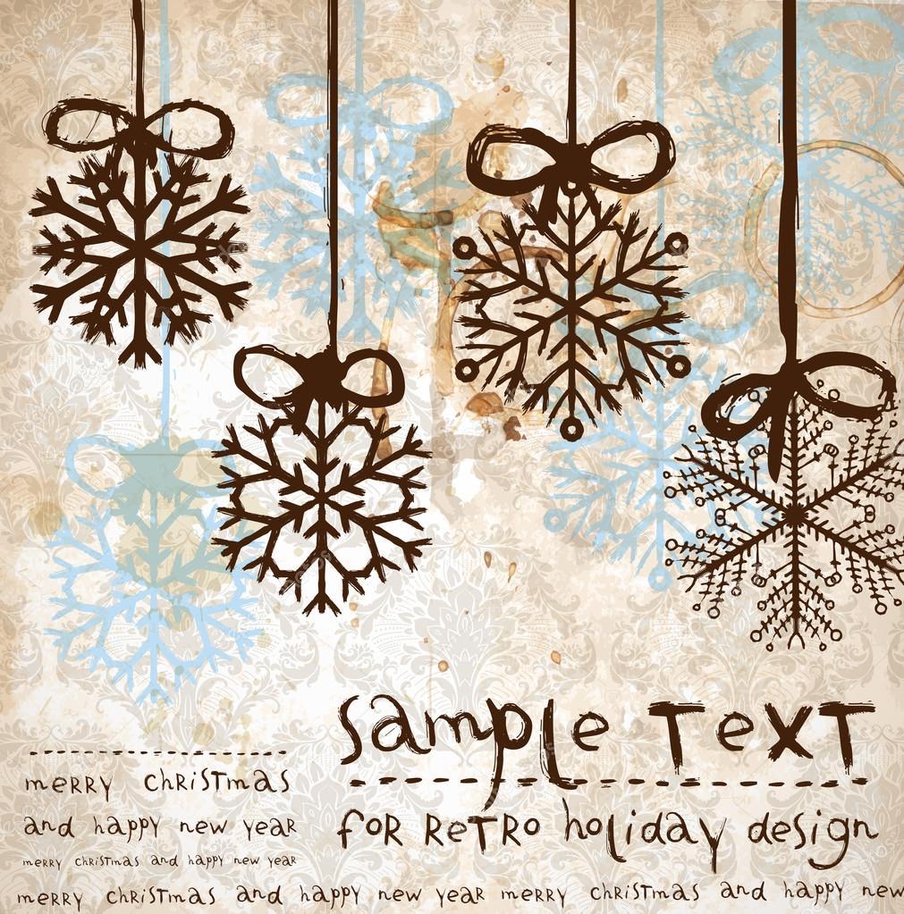 Vintage Weihnachten Hintergrund Weihnachten Design
