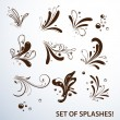 Set of vector splashes. — Stock Vector