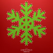 Torn paper in the shape of Christmas Snowflake. Vector Illustration. — Stok Vektör