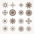 Snowflake winter set vector illustration for Christmas winter design — Stockvectorbeeld