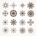 Snowflake winter set vector illustration for Christmas winter design — Stock Vector