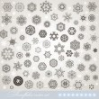 Snowflake winter set vector illustration for Christmas winter design — Stock Vector