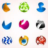 Ensemble d'icônes abstraites affaires — Vecteur