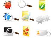 Set di icone vettoriali. — Vettoriale Stock