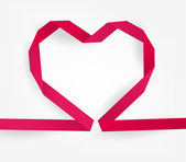 Paper origami heart — Stock Vector